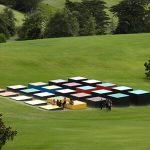 Red Cloud Confrontation in Landscape by Leon van den Eijkel at Gibbs Farm